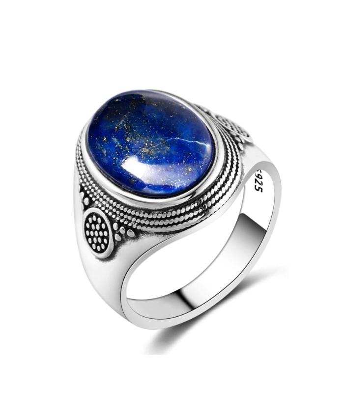 Bague en Pierre  Naturelle Lapis Lazuli