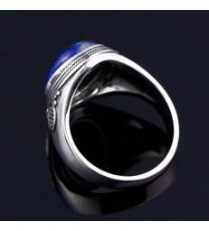 Bague en Pierre Naturelle Lapis Lazuli Argent 925 S