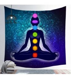 Toile des 7 chakras Bouddha, décoration, yoga