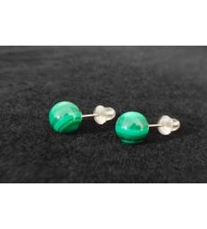 Boucles d'oreille Malachite Argent 925s
