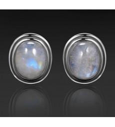 Boucles d'oreilles en pierre de lune naturelle