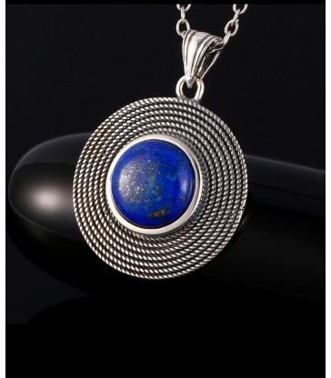 Collier & Pendentif en Pierre Lapis Lazuli