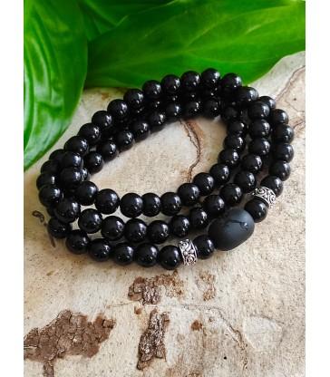 Bracelet en Pierre Naturelle Obsidienne