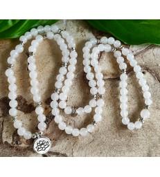Bracelet Mala en Jade Blanc