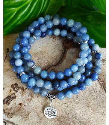 Bracelet Mala Aventurine Bleue