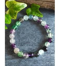 Bracelet Fluorite en Pierre Naturelle