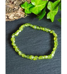 Bracelet en Peridot Perle Irrégulière