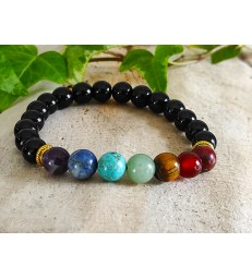Bracelet Onyx 7 chakras