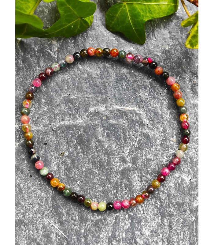 "Bracelet "" Energie "" en Tourmaline Multicolore"