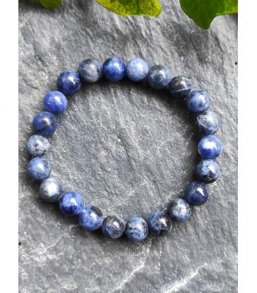 Bracelet Sodalite en Pierre Naturelle