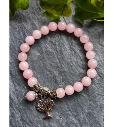 """Bracelet """" Guérison """" Arbre de Vie en Quartz rose"""