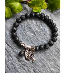 """Bracelet """" Nature """" Arbre de Vie en pierre de Lave"""