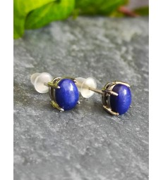 Boucles d'oreilles Lapis Lazuli Argent 925s