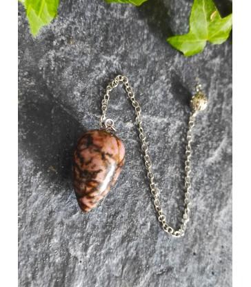 Pendule en pierre naturelle Rhodonite