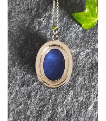 Pendentif Ovale en Lapis Lazuli