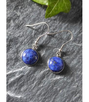 Boucles d'oreilles Rondes en Lapis lazuli
