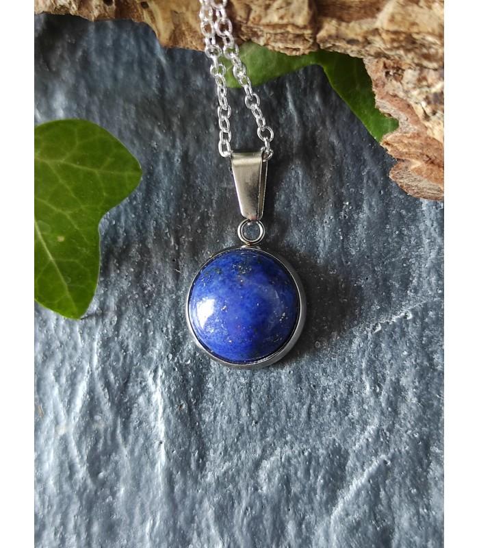Pendentif Rond en Lapis Lazuli