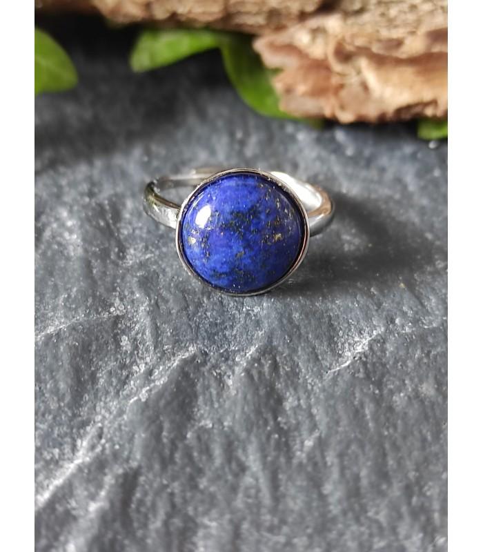 Bague Lapis Lazuli Ajustable Argent 925s