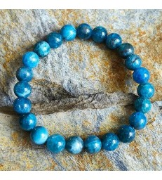 "Bracelet "" Energie "" en pierre naturelle Apatite"