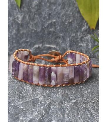 Bracelet Bohème en Améthyste