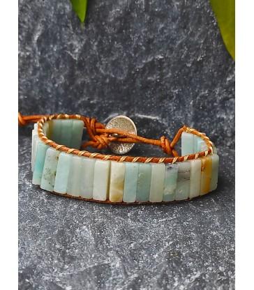 Bracelet Bohème en Amazonite
