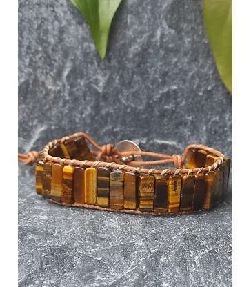 Bracelet Bohème en Oeil de Tigre