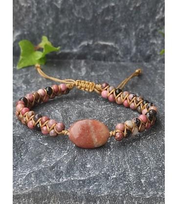 Bracelet Bohème Rhodonite