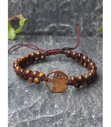 Bracelet Bohème Oeil de Tigre - Arbre de Vie