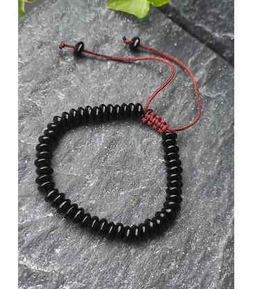 Bracelet Ajustable en pierre naturelle Onyx
