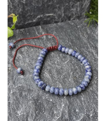 Bracelet Ajustable en pierre naturelle Sodalite