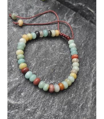 Bracelet Ajustable en Pierre naturelle Amazonite