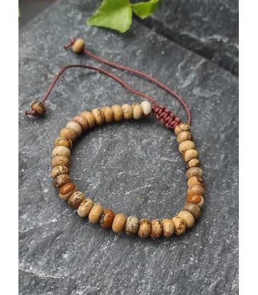 Bracelet Ajustable en pierre naturelle Jaspe Paysage