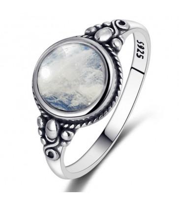 Bague en pierre de lune naturelle