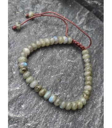 Bracelet Ajustable en pierre naturelle Labradorite
