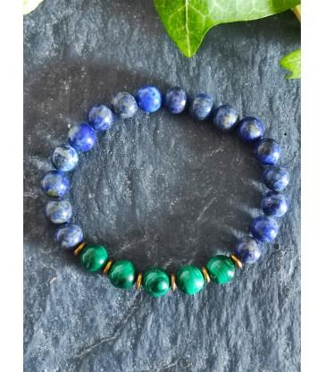Bracelet Lapis Lazuli & Malachite