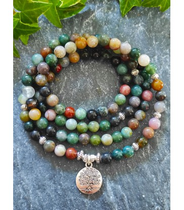 Bracelet Mala Agate Indienne
