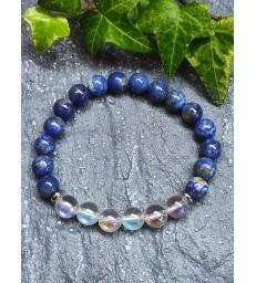 Bracelet Lapis Lazuli & Quartz Angel Aura