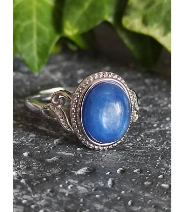 Bague en Cyanite Bleue - Ajustable en Argent sterling 925