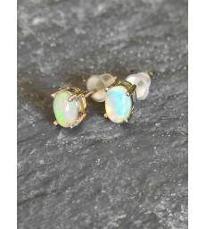 Boucle d'oreille en Opale de feu Argent sterling 925