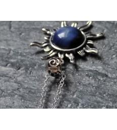 Pendentif soleil en Oeil de Faucon - Argent sterling 925